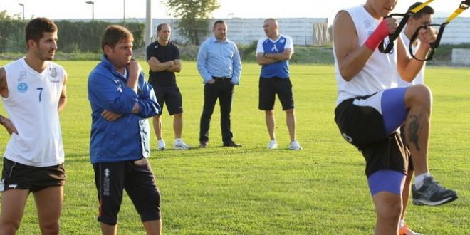 Pandurii au efectuat azi un nou antrenament fizic sub comanda lui Dumitru Butilcă