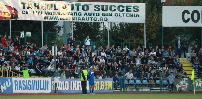 Tinerii din Târgu Jiu, alături de echipă la meciul dintre Pandurii Târgu Jiu şi Oţelul Galaţi