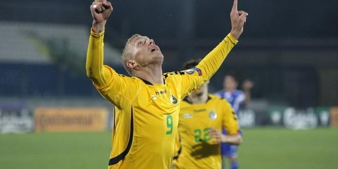 Deivydas Matulevicius a marcat pentru naţionala Lituaniei în meciul din preliminariile Euro 2016 cu San Marino