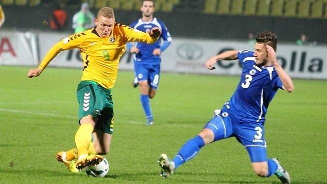 Deivydas Matulevicius a jucat 90 de minute în meciul Lituaniei cu Elveţia