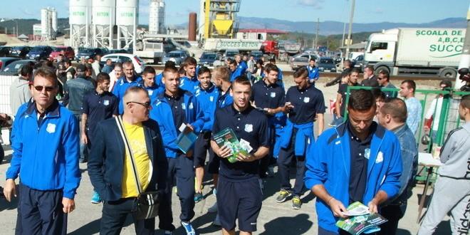 Pandurii au vizitat azi Târgul Auto Succes care aparţine sponsorului echipei – Compania Succes