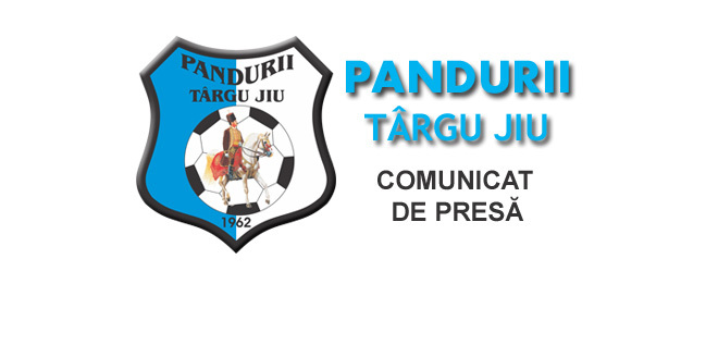 COMUNICAT DE PRESĂ  / Pandurii Târgu Jiu nu a primit acordul DSP Gorj pentru a se deplasa la meciul de la Miercurea Ciuc