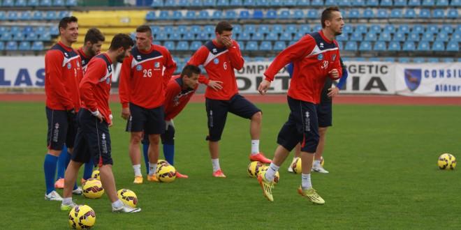 Pandurii au continuat  azi antrenamentele pentru meciul cu Concordia Chiajna