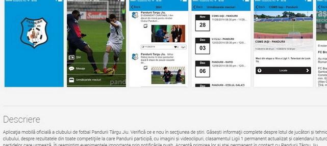 Descărcați aplicația mobilă oficială a clubului PANDURII TÂRGU JIU
