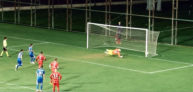Pandurii TV / Dan Nistor ratare penalty meci amical Pandurii–TS Podbeskidzie Bielsko-Biała