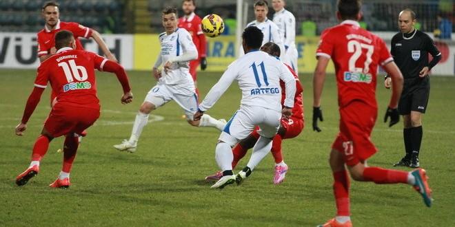 Pandurii a câştigat meciul tur cu Dinamo din semifinalele Cupei Ligii, scor 2-1 !