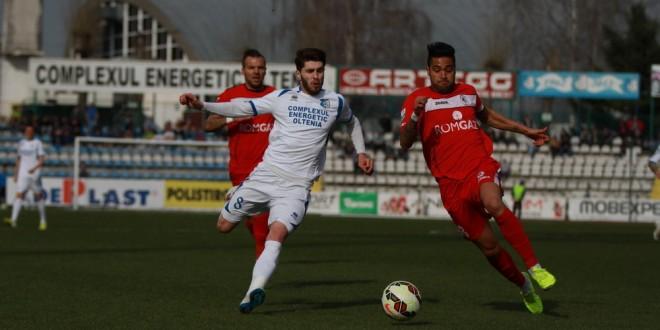 Pandurii Târgu Jiu a pierdut meciul cu Gaz Metan Mediaş, scor 0-1