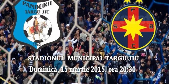 PANDURII TV / PANDURII TÂRGU JIU – FC STEAUA  SA BUCUREŞTI, DUMINICĂ 15 MARTIE 2015