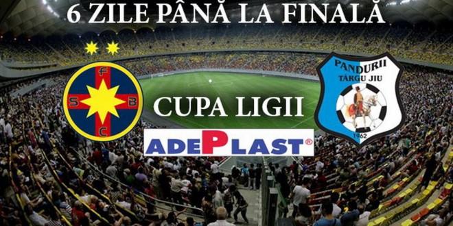 Au mai rămas 6 zile până la finala Cupei Ligii Adeplast, Pandurii Târgu Jiu – Steaua Bucureşti, Arena Naţională, 20 mai 2015