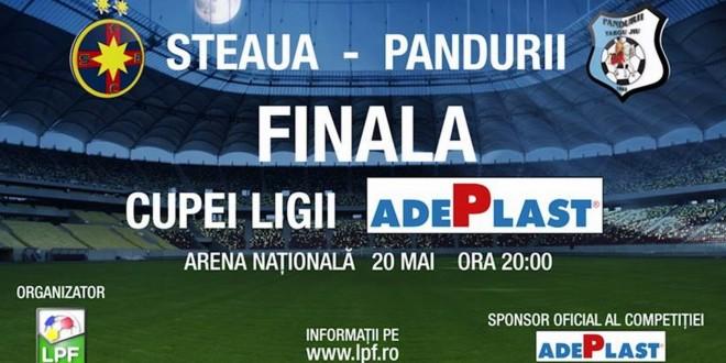 Programul caselor de bilete în ziua finalei Pandurii Târgu Jiu – Steaua Bucureşti