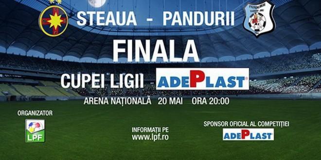 Biletele pentru finala Cupei Ligii Adeplast, Pandurii – FC Steaua, pot fi achiziţionate online începând de astăzi !