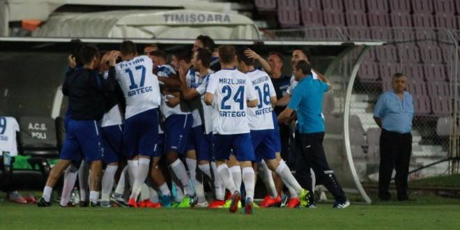 Pandurii ocupă locul I în clasament fiind singura echipă victorioasă în prima etapă  dintre cele 14 formaţii din Liga I