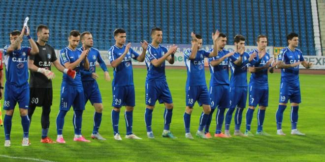 Pandurii Târgu Jiu este pe locul I în clasamentul returului sezonului regulat cu 16 puncte obţinute în 7 meciuri