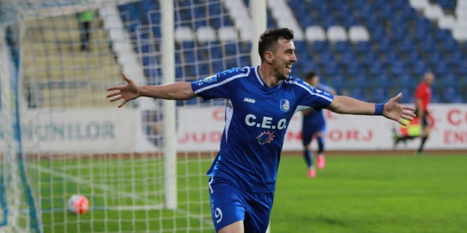 Ioan Hora a devenit cel mai bun marcator din istoria clubului Pandurii Târgu Jiu