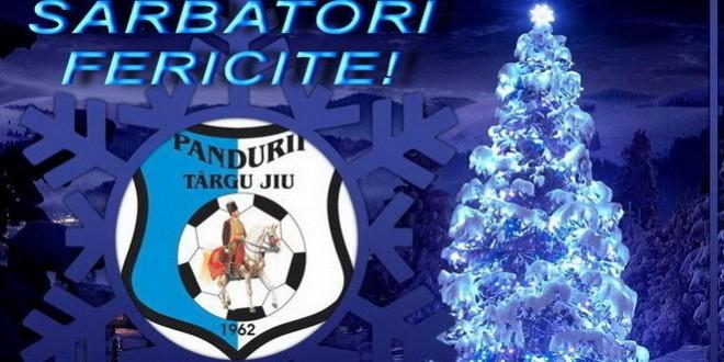 Sărbători fericite din partea clubului Pandurii Târgu Jiu!
