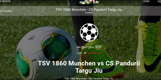 MECI AMICAL / TSV 1860 Munchen – Pandurii Târgu Jiu, ora 17:30 ora României (echipele de start)