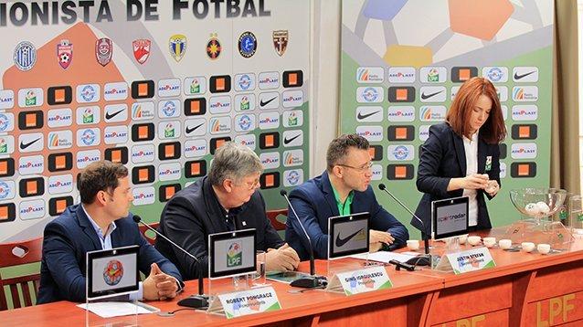 VIDEO / Tragerea la sorţi a programului competițional pentru faza a doua a Campionatului Național Liga 1 Orange