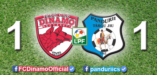 Dinamo Bucureşti – Pandurii Târgu-Jiu, scor 1-1 în etapa a III-a din play-off