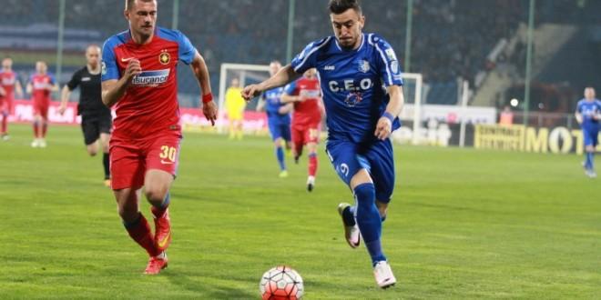 Pandurii Târgu Jiu a pierdut la limită meciul cu Steaua din etapa a IV-a din play-off