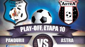Bilete pentru meciul Pandurii Târgu Jiu – Astra Giurgiu, etapa a X-a din play-off-ul Ligii I Orange