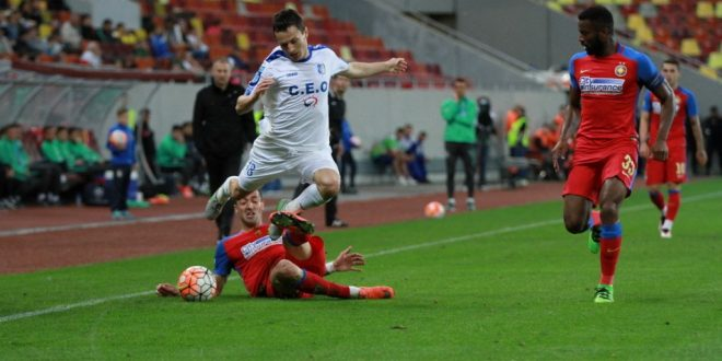 Pandurii Târgu Jiu a încheiat  la egalitate meciul cu Steaua din etapa a 9-a din play-off-ul Ligii I Orange, scor 1-1