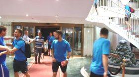 Pandurii s-au instalat la Maribor fără bagajele care sunt aşteptate să ajungă azi în cantonamentul echipei