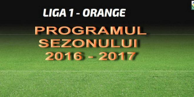 Programul complet al Ligii 1 Orange, sezonul 2016-2017. Pandurii va juca două meciuri pe teren propriu în primele etape cu Craiova şi Astra