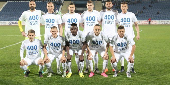 Pandurii a marcat cele 400 de meciuri pe prima scenă a fotbalului masculin din România la meciul cu CSM Poli Iaşi