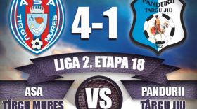 LIGA A II-A / ASA Târgu Mureş – Pandurii Târgu Jiu, scor 4-1 în etapa a 18-a a Ligii a II-a