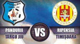 Pandurii Târgu Jiu va juca sâmbătă pe teren propriu cu Ripensia Timişoara în etapa a 8-a a Ligii a II-a Casa Pariurilor