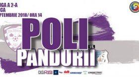 Meciul dintre ACS Poli Timişoara și Pandurii Târgu Jiu a fost programat pentru sâmbătă, 29 septembrie, cu începere de la ora 14:00