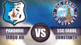 Biletele pentru meciul  dintre Pandurii Târgu Jiu şi  SSC Farul Constanţa se pun în vânzare duminică 9 septembrie
