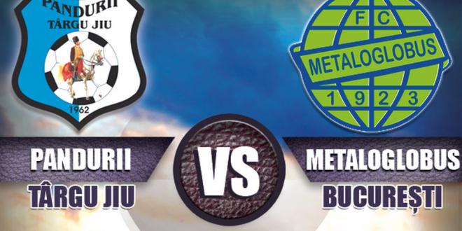 Pandurii Târgu Jiu va juca sâmbătă 3 noiembrie, ora 11:00,  pe teren propriu, cu Metaloglobus Bucureşti