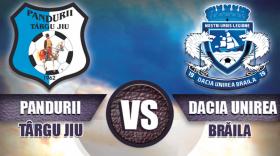 Pandurii Târgu Jiu – Dacia Unirea Brăila se va juca sâmbătă, de la ora 11:00, preţ bilet 10 lei