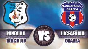 Pandurii Târgu Jiu întâlnește sâmbătă, cu începere de la ora 11:00, Luceafărul Oradea, pe terenul sintetic de la Târgu Jiu