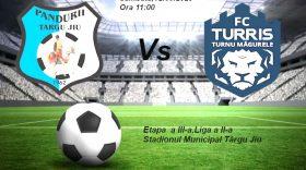 Invitaţie la meci pentru suporterii echipei Pandurii, în centrul Municipiului Târgu Jiu