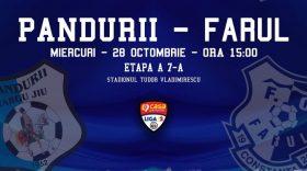 MECI RESTANŢĂ / Pandurii Târgu Jiu dispută miercuri meciul restanţă din etapa a 7-a cu Farul Constanţa